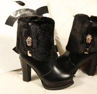 Wholesale Sexy new Europe and the United States is of high quality shoes fashion high gold boots winter boots