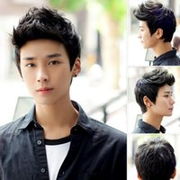 Wholesale Fashion Men Handsome Short Hair Sexy Korean Boys Male Wig Full Wig Cosplay Party