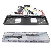 Wholesale PZ600 L European Car License Plate Parking Sensor with HD Rear View Camera Free Ship