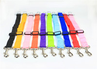 Wholesale 10pcs By Post E packet Adjustable Attach To Vehicle Seat Auto Travel Dog Cat Pet Car Seat Belt Dog Leash