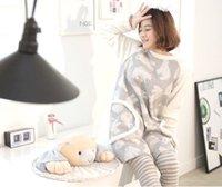 Wholesale 2016 Winter Autumn Polar Bear Warm Pajama Sets Women Girls Polyester Home Full Round Neck