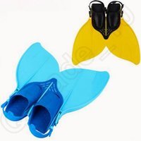 Wholesale Adjustable Mermaid Swim Fin Diving Monofin Separated Foot Swimming Foot Flipper Mono Fin Swim Training Fins For Kids CCA5585