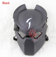 Wholesale Aline Predator Hunter Halloween Easter Party Mask W Infrared Light Tactical Airsoft Mask Cosplay Movie Prop helmets Party Masks