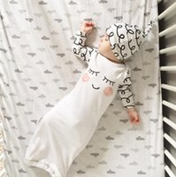 airs cute clothes - Baby Boys Girls Sleeping Bag Infant Baby Cute Eyes Sleep Bag Wave Hat Two Piece Sets Kids Cotton Air condition Blankets