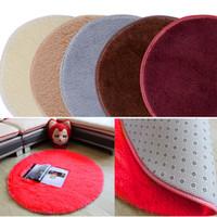 bathroom foam mats - Stylish Absorbent Soft Memory Foam Red Round Shape Bathroom Floor Shower Mat Rug Non slip