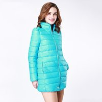 bai hat fashion - 2016 Winter Long Fund Frivolous Down Jackets Woman Self cultivation Round Neck No Even Hat Bai Yarong Keep Warm Down Jackets Loose Coat