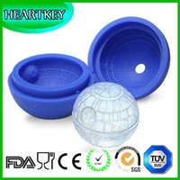 Wholesale Best Selling Flexible Whisky Cocktail Ice Ball Making Silicone Ice Tray Star Planet Silicone Ice Ball Mold
