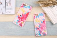 apple flakes - Sharewell Colorful Painting Soft Phone Back Cover w Strape Embossing Flake shaped TPU Case For Iphone s plus plus oppo vivo A112