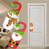 bamboo tree indoors - Fashion Santa Claus Snowman Door Handle Window Pendants Indoor Christmas Decoration Hanging Ornaments for Home Decoration