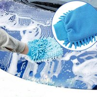 auto cleaning mitt - Car Microfiber Vehicle Auto Truck Cleaning Glove Wash Mitten Cloth Washing Mitt Brush PINK BLUE Gloves
