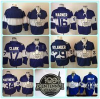 Wholesale Cheap Toronto Maple Leafs Centennial Classic Ice Hockey Jersey th Anniversary Mitch Marner Matthews Rielly Blue Jerseys