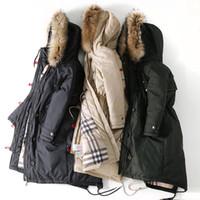 Wholesale 2017 new female wind raccoon fur hooded windbreaker section down jacket was down in the long section down jacket