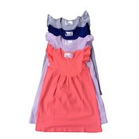 Wholesale Solasfactory toddler baby cotton sleeveless frocks dress boutique kids girls round neck pearl dresses