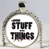 antique stuffed animals - Newest Style The Stuff And Things Pendant Necklace Walking Dead Jewelry Charms Zombie Vintage Antique Bronze Jewelry