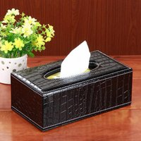 Wholesale European Style Elegant Royal For Crocodile Paper Car Covers Towels In Heart Household Tissue Box