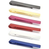 Wholesale 5Pcs Classic Simple Style Metal Tie Clips Clasp For Men s Gifts Wedding Party Jewelry Accessories Necktie Tie Bar Clamp Pin