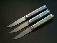 Electrocardiograma ECG CH189 ZDP-189 ZDP189 cuchillo de rodamiento de bolas de titanio plegable camping cuchillo de supervivencia al aire libre xmas cuchillo 1pcs