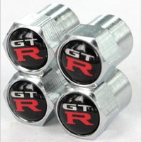 Wholesale 4piece Car Styling Covers Auto Wheel Tire Tyre Valve Stem Caps With GTR Logo Automobile Accessories
