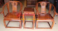 Wholesale Coffee table sets pieces round backed armchair table home chatting desk wood furniture chinese antique style african rosewood JY C004