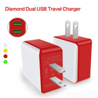 Universal apple ipad home charger - 2017 Hot Sale A A US Plug Bicolor Dual USB Port Home Travel Charger Power Adapter For iPad iphone Smartphone