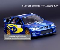 big scale racing - 1 Scale Alloy Diecast Metal Car Model For SUBARU Impreza WRC Racing Car Collection Model Pull Back Toys Car Blue