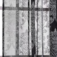 Wholesale m European Cotton and linen Pattern Embroidered screens Curtains For Bedroom living Room Semi shade Curtains