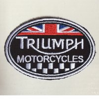 Wholesale Triumph Motorcycle Biker Racing inch heat cut iron on backing Customized design is welcome for us