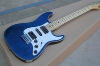 achat en gros de guitare suhr pro series-Vente en gros - usine de guitare en Chine personnalisée Haute qualité Nouvelle étincelle bleue Guitare électrique Suhr Pro Series avec tremolo de Wilkinson 1027