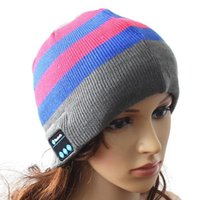 Wholesale New Hot sale Bluetooth beanie Hat Cap Knitted Winter Magic Hands free Music mp3 Hat for Women Men Sports Smartphones