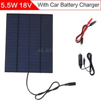 Wholesale ELEGEEK W V mm mAh DIY Solar Cell with DC Output Crocodile Clip Car Charger PET EVA Laminated Solar Panel
