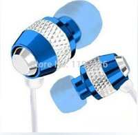 Wholesale Cheaper metal In Ear Earphone Mic calling Stereo Headset For Sony for iPhone Samsung etc top quality