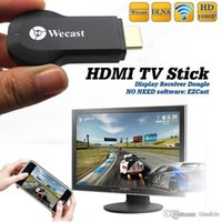 Wholesale Direct Selling Ipush Tv Hdmi Google Chromecast Sdr p Wecast EC C2 Wireless Display Dongle Android Miracast No Need Driver
