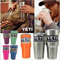 Wholesale Yeti oz cooler Rambler Tumbler Bilayer Stainless Steel Insulation oz Colored Cups Cars Beer Mug Large Capacity Mug Tumblerful DHL Free