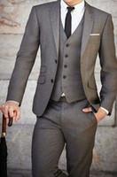 Wholesale Sell like hot cakes Men s Groom Tuxedo Fashion Wedding Suits Bridegroom Suits Groomman Suits Custom