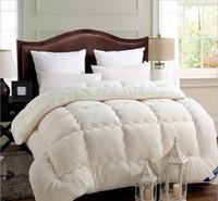 al por mayor manta gruesa reina-Wholesale-Fleece Comforter manta de invierno doble completo reina tamaño King Duvet mantas mantas blancas camel45