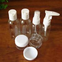 Wholesale Sets Mini Plastic Transparent Small Empty Spray Bottle Lotion Case Container Traveling Makeup Skin Care Refillable Bottle