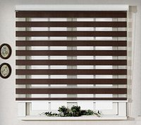 bamboo roller blinds - double layer shading zebra roller blinds