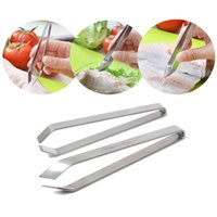 Wholesale New Arrvial Stainless Steel Fish Bone Remover Pincer Puller Tweezer Tongs Pick Up Tool Craft