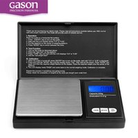 Wholesale NEW GASON Mini Precision Digital Scale Jewelry Gold Silver Coin Gram Pocket Size Display Pocket Electronic Scales gx0 g