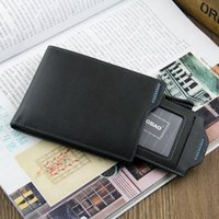 Cheap New Fashion Stylish Mens Wallets PU Leather Plaid Wallet Men Card Collector with extractable See-Through Card Case