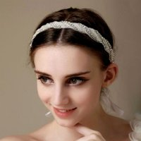 Wholesale bridal hat Hair Accessories The Crystal beads Tassels Crown Hair Hoop Headband Wedding bridal tiara
