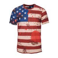 american flag material - 2017 new arrival zipper side t shirt high quality skin friendly material classic American flag pic tshirt boys cool dress fashion sweatshirt