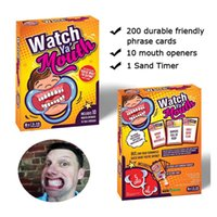 adult mouth guard - Board game watch ya mout table games cards mouth opener family edition hilarious mouth guard party game adult toys Christmas Gifts