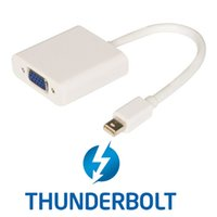 apple tv to vga projector - White color Thunderbolt to VGA Female Cable projectors monitors TV apple MacBook