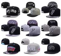 Wholesale 2017 New Spurs snapback Caps San Antonio Adjustable Football Snap Back Hats Snapbacks High Quality Women Men Sports