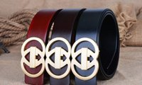Wholesale GG buckle designer belt for men and women brand waist Belts wtih gold or silver H buckle with epacket Free Shippi