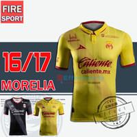 Wholesale 2016 Top Quality Monarcas Morelia soccer Jerseys Morelia home away third Yellow red black Mexico club Morelia football shirts