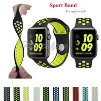 Wholesale New mm mm watchband with Light Flexible Breathable silicone watchs strap band for apple watch iwatch watch smart straps colorful style