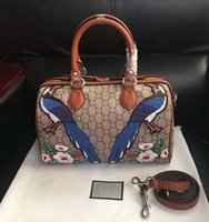 american pillow - New style high quality fashion women genuine leather Embroidery Flowers Floral colourful handbag shoulder bag totes Cross Body