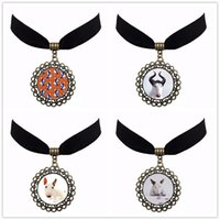 Celtic best dog photos - Bull Terrier Dog Cute Animal Photo Glass Chokers Necklaces For Women Jewellery Body Chain Velvet Choker Best Gift NS153